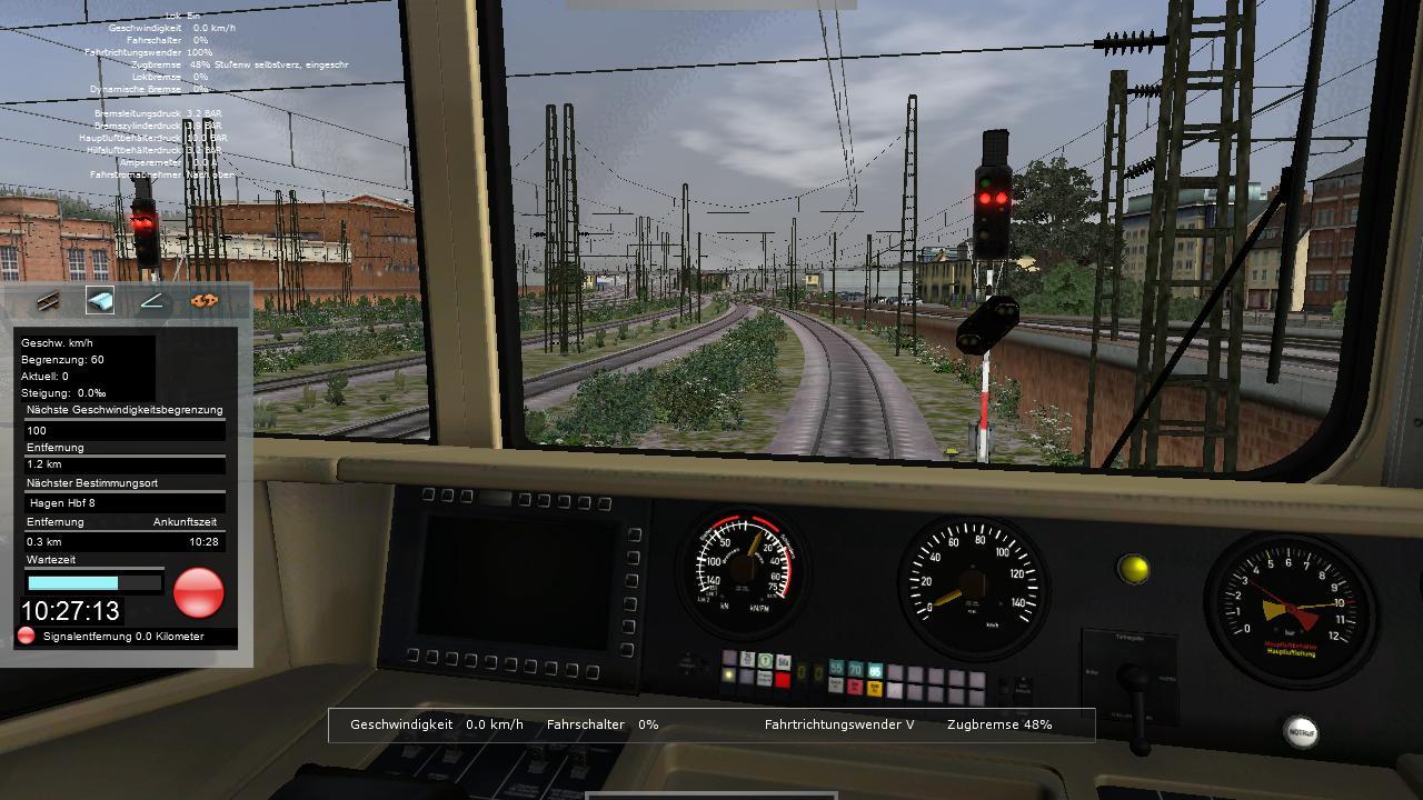 Spieletest Train Simulator 2010: Schöne Landschaften im Zugsimulator - Das Signal bleibt noch rot - eher eine Ausnahme im Spiel.