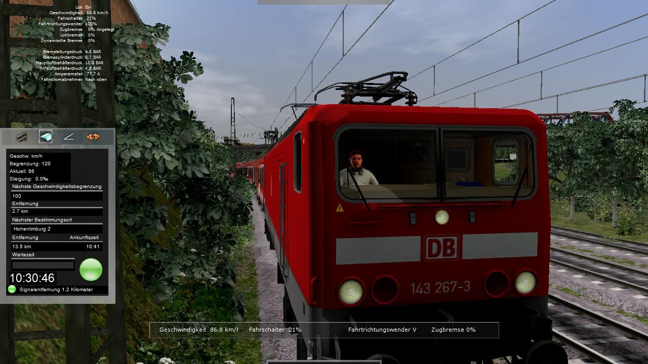 Spieletest Train Simulator 2010: Schöne Landschaften im Zugsimulator - Spitzenlicht. Im Dunkeln wird allerdings nichts durch die Beleuchtung erhellt.