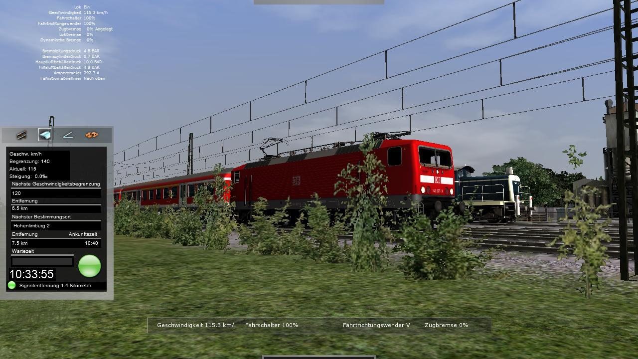 Spieletest Train Simulator 2010: Schöne Landschaften im Zugsimulator - Baureihe 143: Beschleunigt schnell, schafft aber keine hohen Geschwindigkeiten