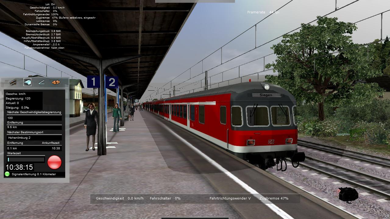 Spieletest Train Simulator 2010: Schöne Landschaften im Zugsimulator - ...  so dass der Zug rechtzeitig zum Stehen kommt.