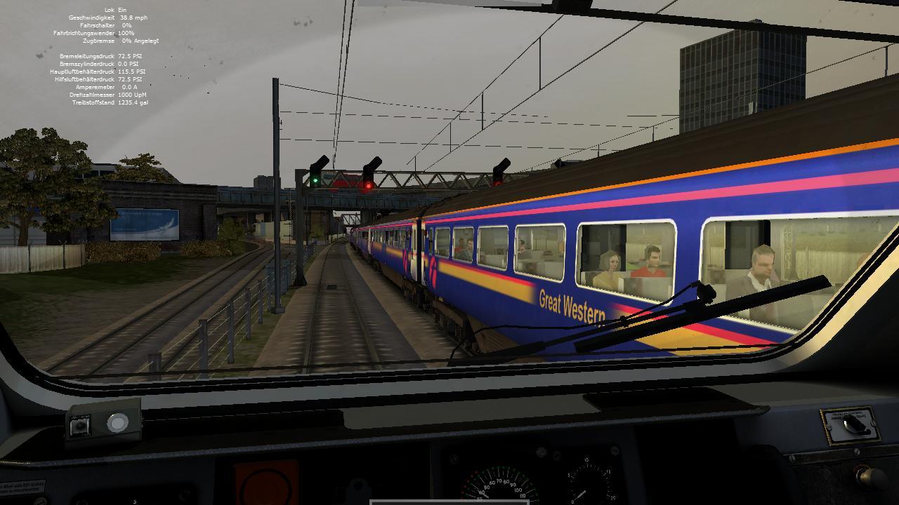 Spieletest Train Simulator 2010: Schöne Landschaften im Zugsimulator - Zugbegegnung