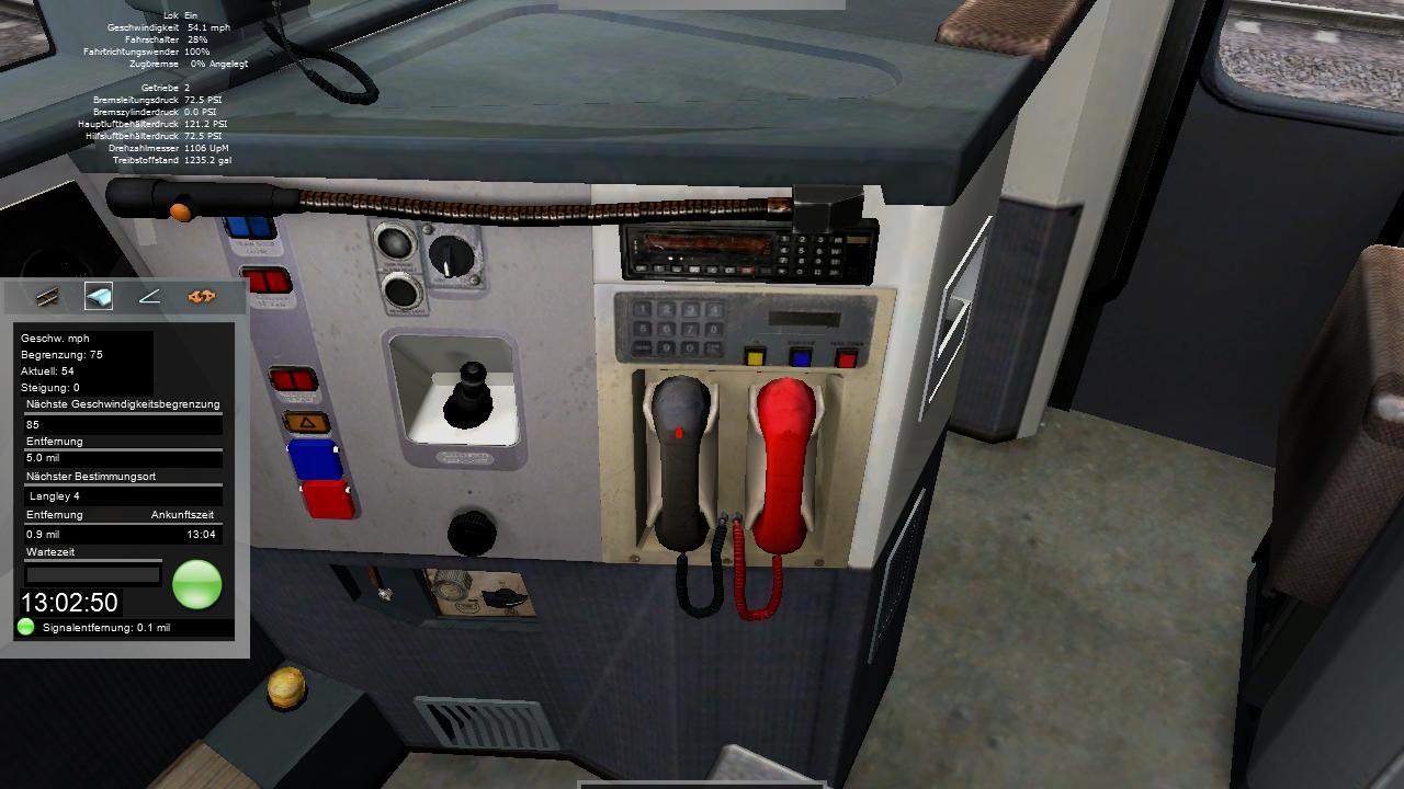 Spieletest Train Simulator 2010: Schöne Landschaften im Zugsimulator - Innenraum