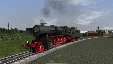 Auch Dampflokomotiven können gefahren werden. Sogar der Schlupf wird simuliert.