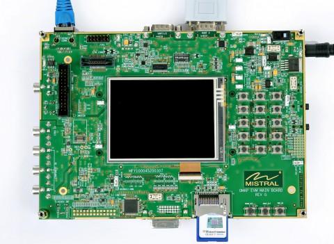 Die Testplattform TMDXEVM3715 für die neuen Sitaras