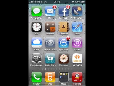 Apples iOS 4 - auf den ersten Blick fallen nur neue Hintergrundbilder auf.