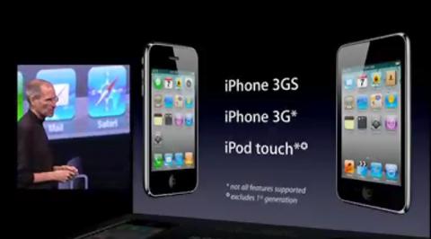 Nicht jedes Gerät mit allen Funktionen von iOS 4