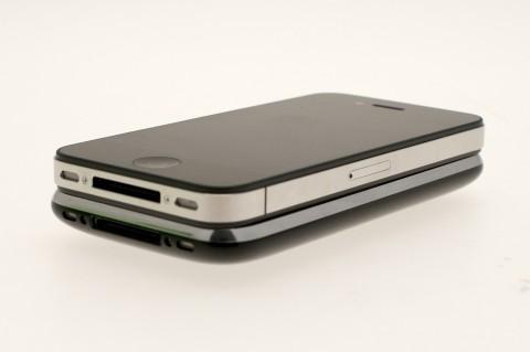 iPhone 4 und darunter das iPhone 3GS