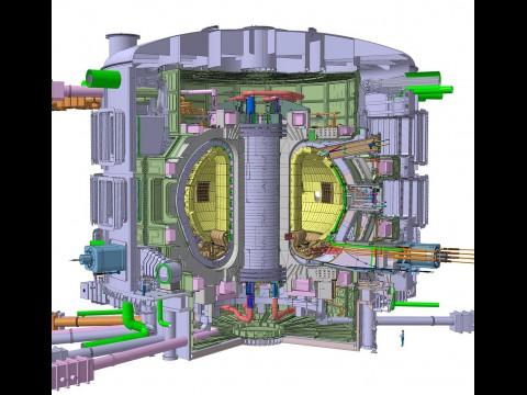Schnittzeichnung der Reaktorkammer des Iter (Bild: Iter)