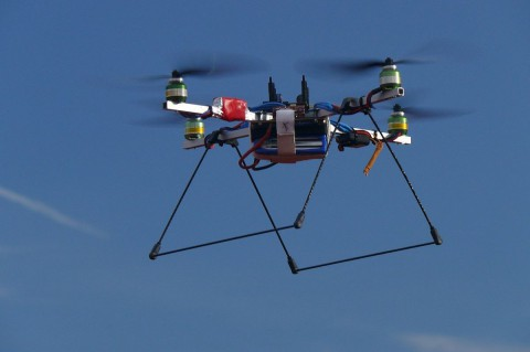 Prototyp des Quadrocopters (Foto: TU Ilmenau)