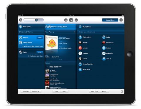 Sonos Controller für iPad (Beta) - ab Ende August 2010 zum Download verfügbar