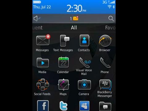 Blackberry 6 - Klickbare Statusleiste