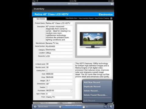 FileMaker Go für das iPad - Datensatzbearbeitung