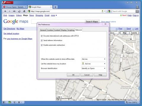 Opera 10.60 - Konfiguration der Standortbestimmung