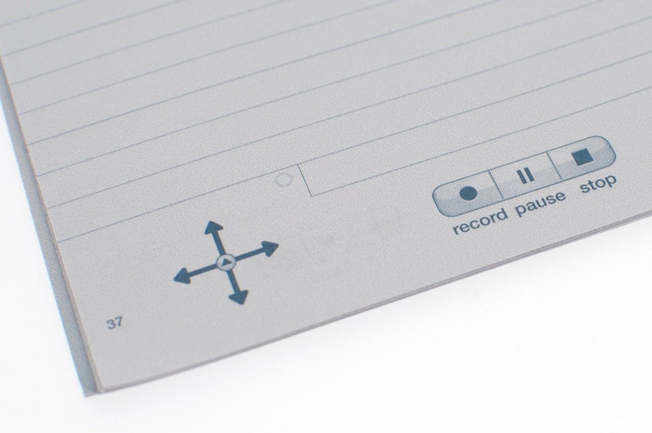 Echo Smartpen im Test: Der Kugelschreiber mit Kamera und Mikrofon - ... auf dem Navigationselemente aufgedruckt sind.