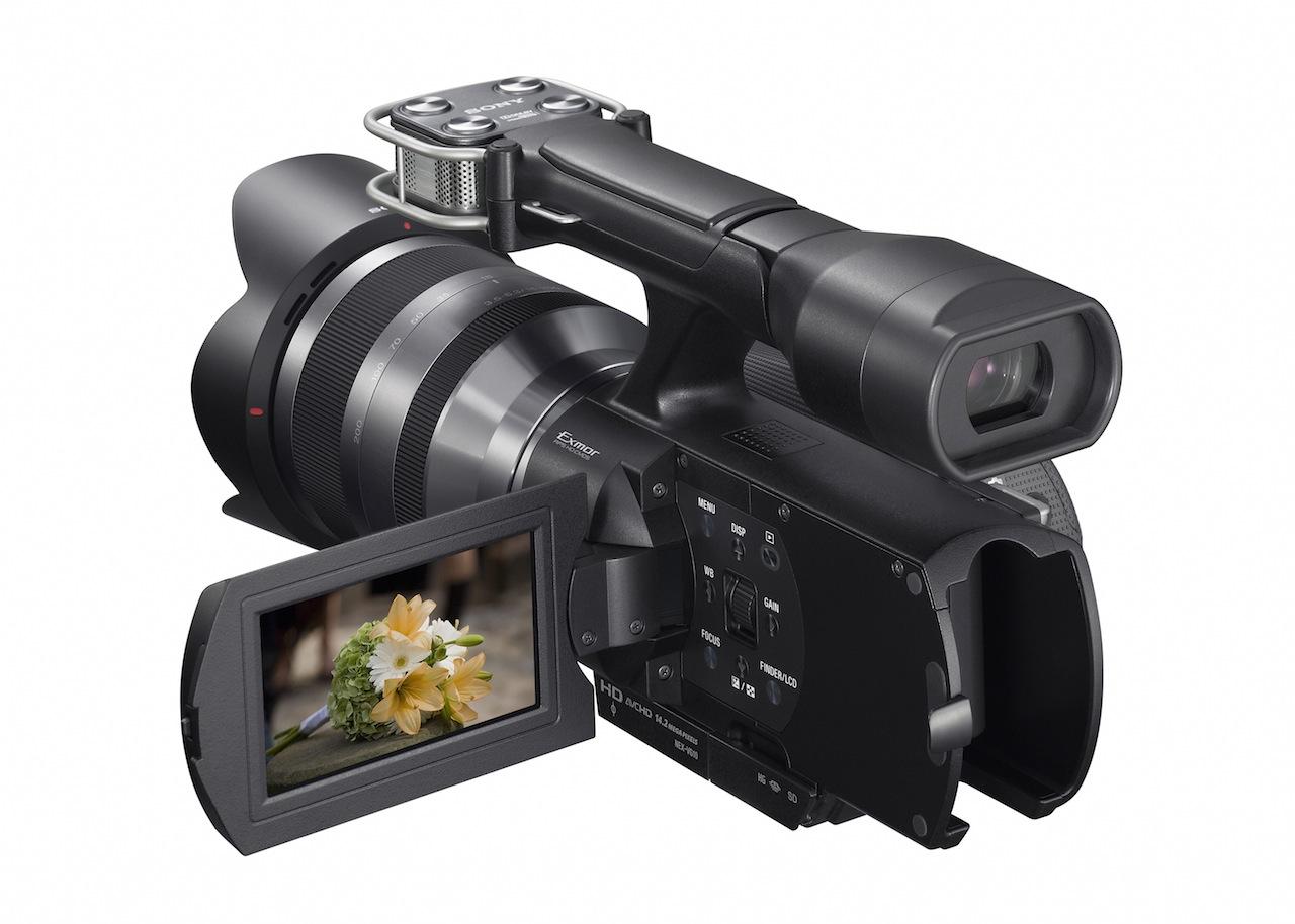 Sony NEX: Kleiner Camcorder mit auswechselbaren Objektiven - Sony NEX-VG10