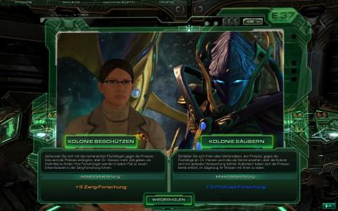 """""""Gut"""" oder """"Böse"""": Vor Missionsbeginn darf der Spieler gelegentlich sein Vorgehen wählen."""