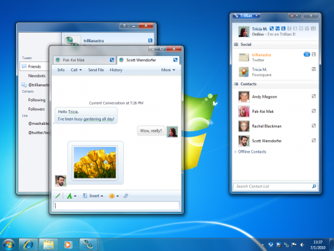Trillian 5 unter Windows 7