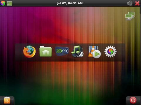 Element OS 1.3 mit dem Anwendungsstarter
