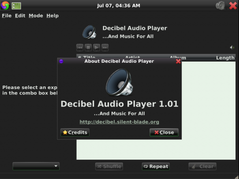 Der Audioplayer Decibel