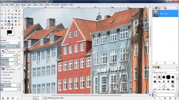 Gimp 2.8 unter Windows im Ein-Fenster-Modus