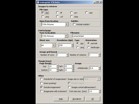 Das Einstellungsfenster für das Kontaktabzug-Plugin