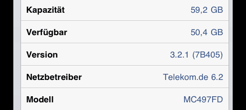Einstellungen - ab Telekom.de 6.2 macht das iPad 3G keine MultiSIM-Probleme mehr