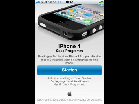 App zum iPhone 4 Case Programm