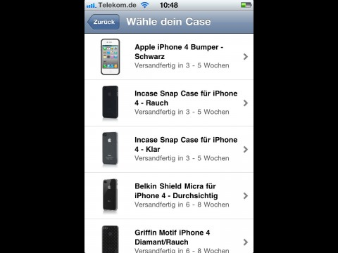 iPhone 4 Case Programm - Bumper...