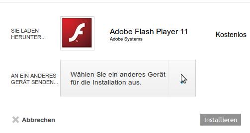 Der vorhandene Flash Player wird beim Update auf Jelly Bean deinstalliert und lässt sich über den herkömmlich Weg auch nicht wieder einrichten.