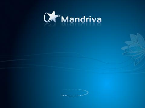 Der Splashscreen von Mandriva 2010 Spring