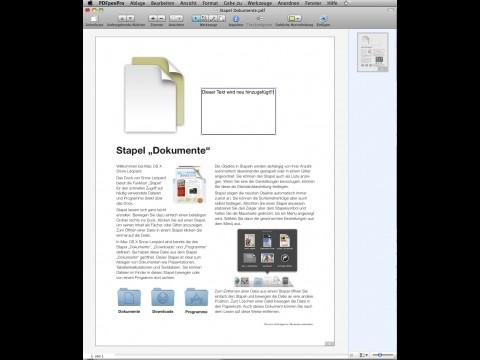 PDFpen - Text hinzufügen