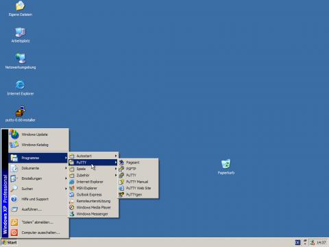 Die Werkzsammlung von Putty funktioniert in allen 32- und 64-Bit-Windows-Versionen.