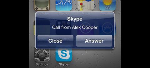 Skype für iPhone - unter iOS4 nun mit Multitasking