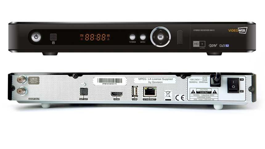 Videoweb 600S: HDTV-Sat-Receiver mit Onlineanbindung lieferbar -
