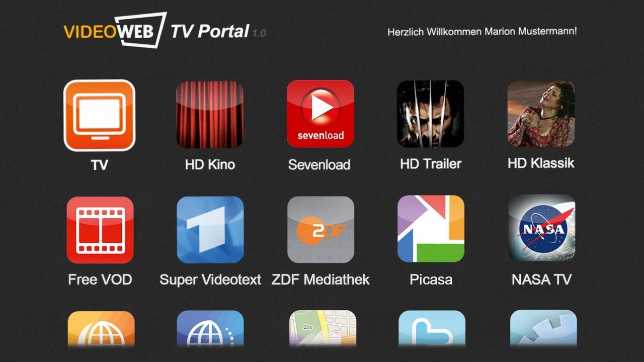 Videoweb 600S: HDTV-Sat-Receiver mit Onlineanbindung lieferbar - Videoweb 600S - das Videoweb-TV-Portal in der Version 1.0