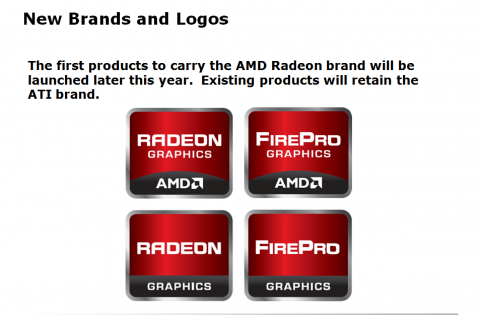 Die neuen Logos - mit und ohne AMD