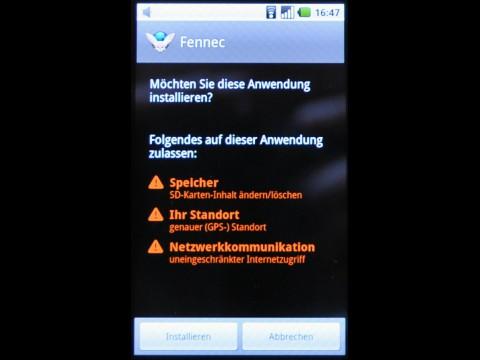 Firefox 2.0 für Android Alpha: Nicht mehr Funktionen, als nötig