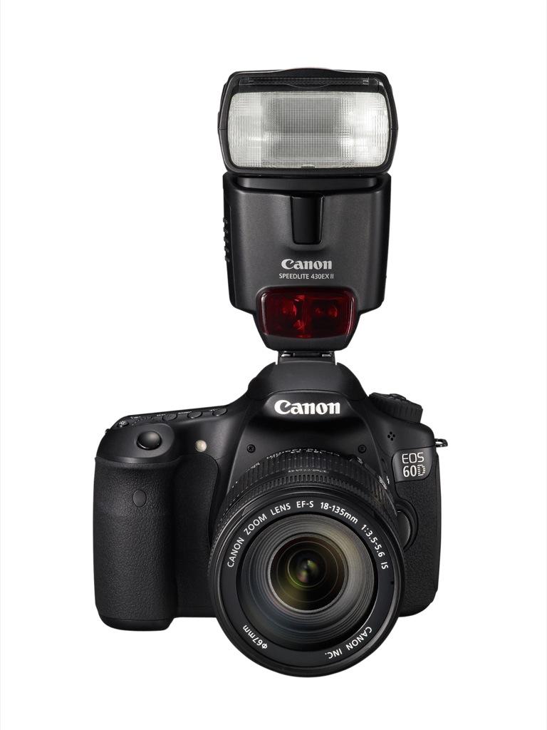 Canon: EOS 60D mit Schwenkdisplay und Full-HD-Videoaufzeichnung - Canon EOS 60D mit Blitz 430EX II