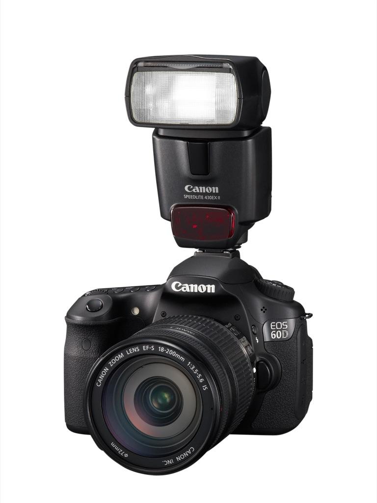 Canon: EOS 60D mit Schwenkdisplay und Full-HD-Videoaufzeichnung - Canon EOS 60D mit Speedlite 430EX II