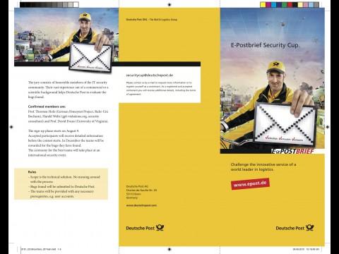 Broschüre zum E-Postbrief Security Cup