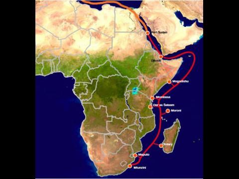 EASSy - das Unterseekabel verbindet Länder Ostafrikas mit der Welt.