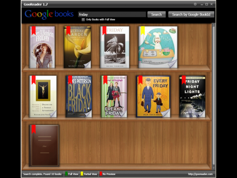Gooreader - Bücherregal