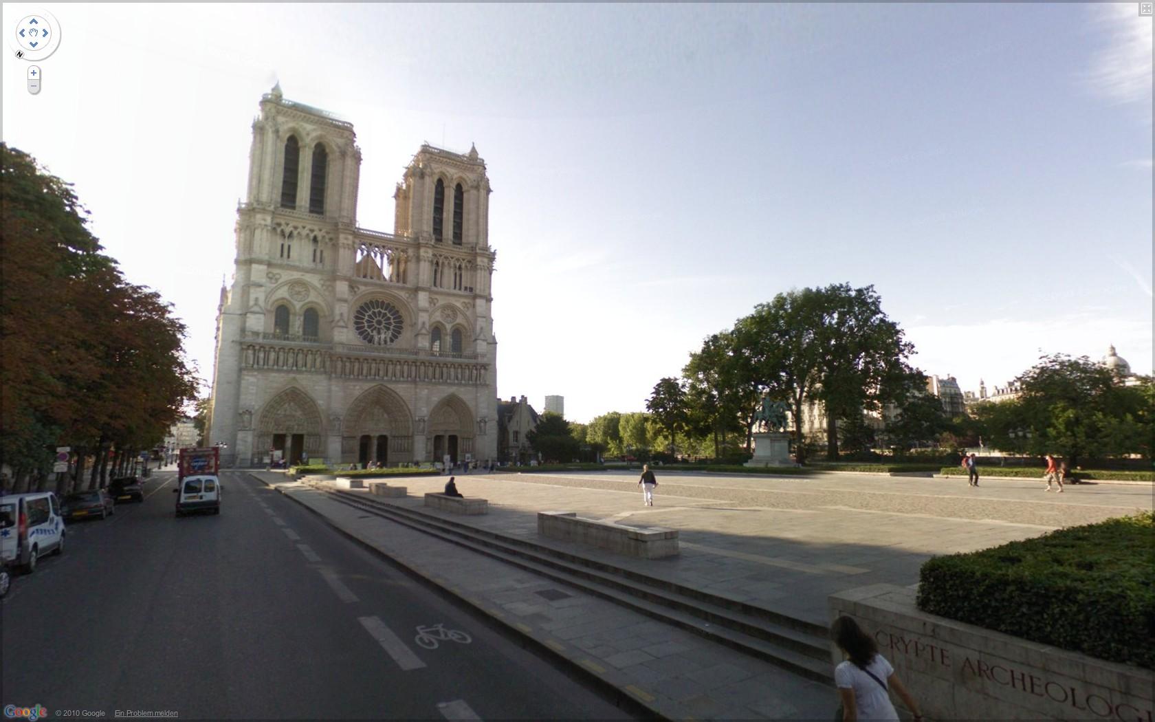 Street View: Das eigene Haus kann ab sofort verpixelt werden - Google Street View: Notre Dame in Paris