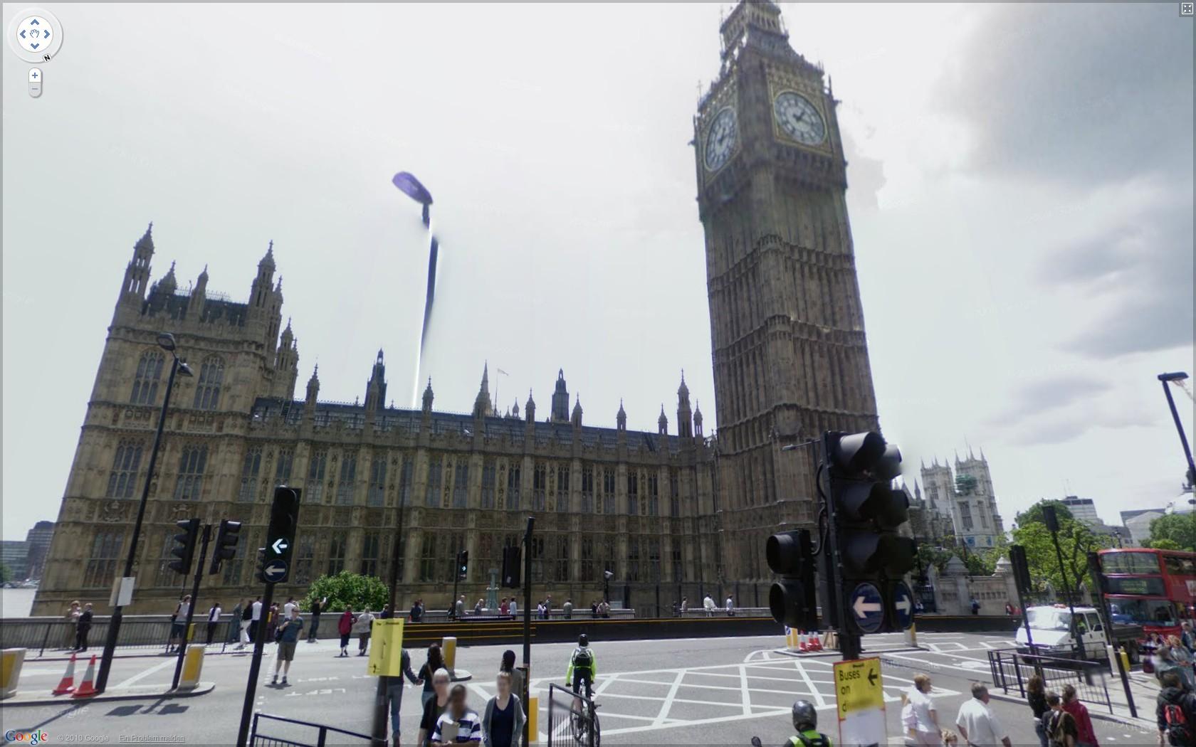 Street View: Das eigene Haus kann ab sofort verpixelt werden - Google Street View: Houses of Parliament in London