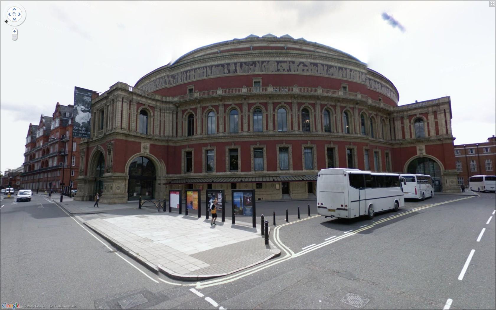 Street View: Das eigene Haus kann ab sofort verpixelt werden - Google Street View: Royal Albert Hall in London