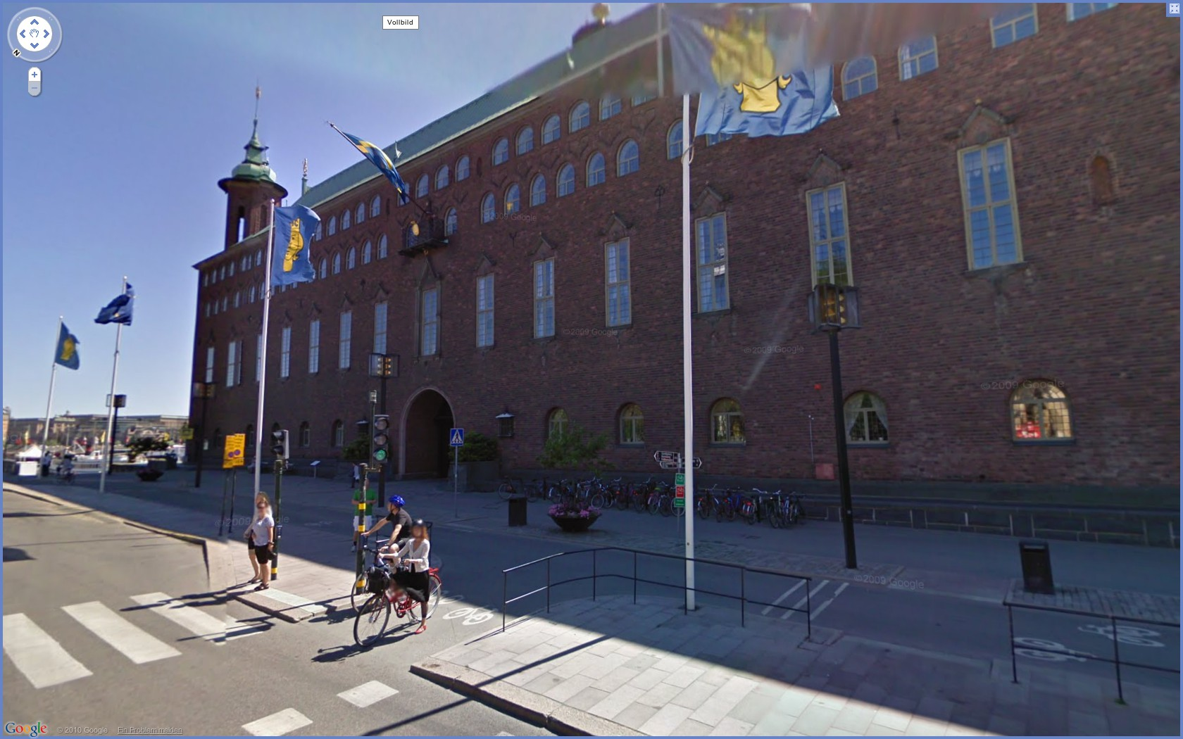 Street View: Das eigene Haus kann ab sofort verpixelt werden - Google Street View: Stadthaus in Stockholm