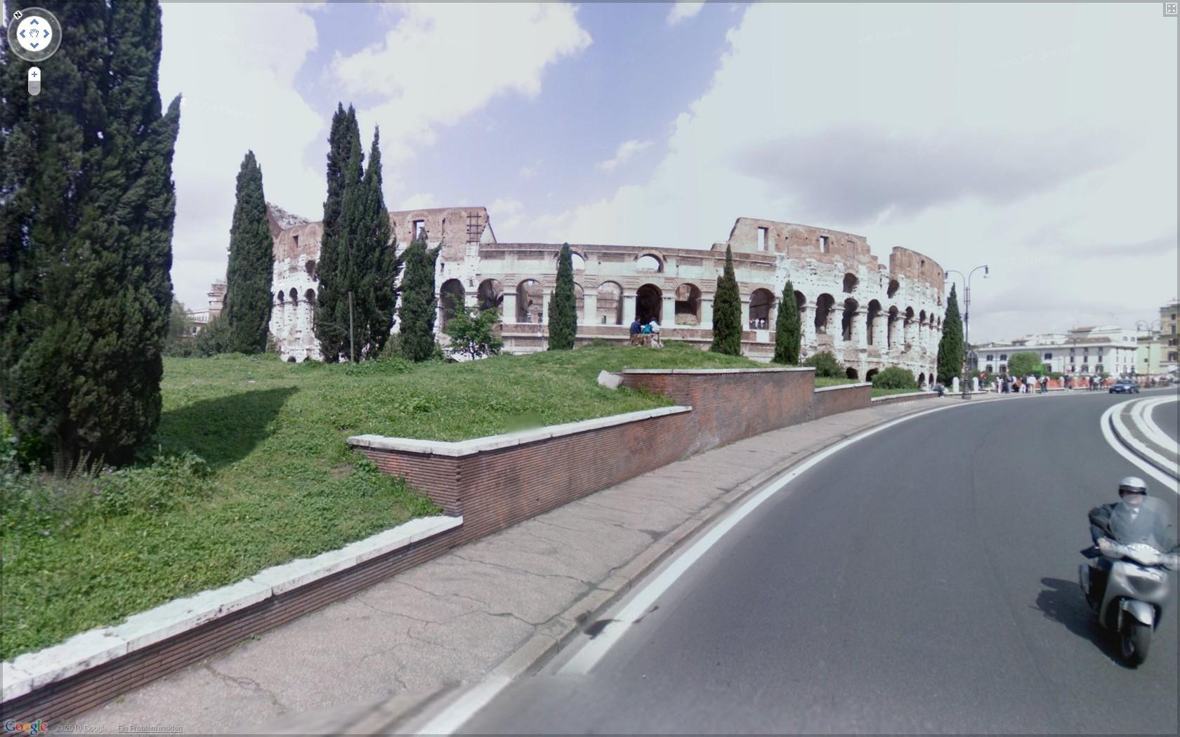 Street View: Das eigene Haus kann ab sofort verpixelt werden - Google Street View: Colosseum in Rom