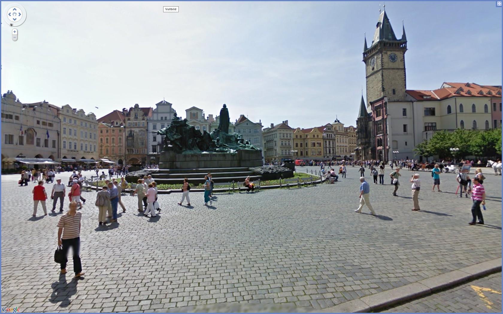 Street View: Das eigene Haus kann ab sofort verpixelt werden - Google Street View: Prags historisches Zentrum