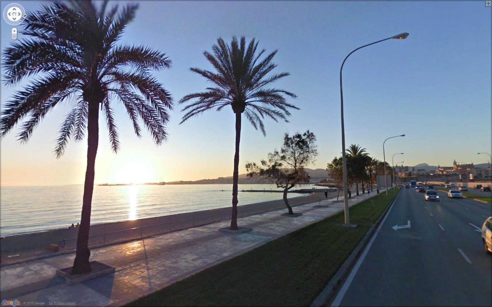 Street View: Das eigene Haus kann ab sofort verpixelt werden - Google Street View: Strandpromenade in Palma (Mallorca)