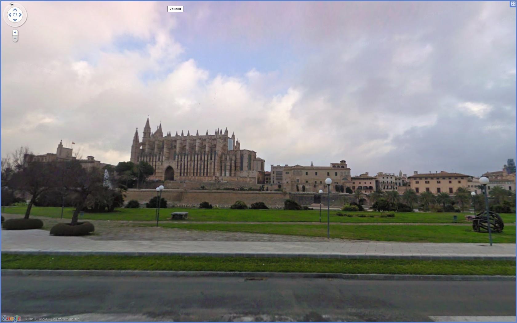Street View: Das eigene Haus kann ab sofort verpixelt werden - Google Street View: Kathedrale in Palma (Mallorca)